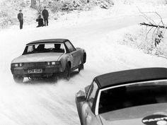 Porsche 914 snow racers.
