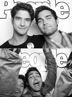 Tyler Posey and Derek Hoechlin in the People Comic-Con Photo Booth