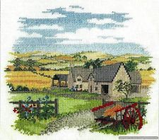 Derwentwater Designs Cross Stitch Kit Low Meadow Farm Country