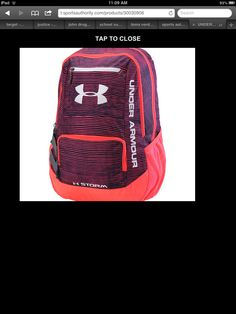 Adorable under armour backpack