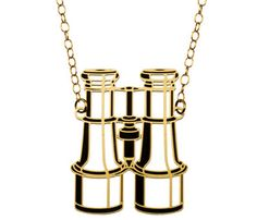 Kohl Gold Binoculars Necklace Fun piece for your jewlery box