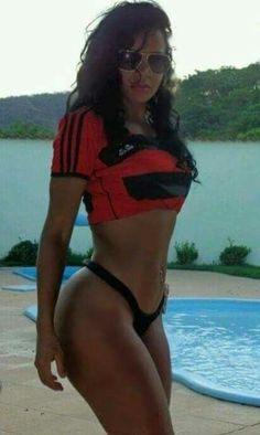 Brazilian Girls, Musa, Bikinis, Swimwear, Curvy, Soccer, Beautiful Women, Crop Tops, Beauty