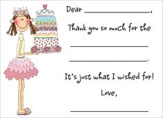 As soon as children can start writing some words, encourage them to write their own thank you notes with fill-in-the-blank notes like this. Writing thank you notes simply becomes a part of life, then, because they've done it since they can remember. #parentingtip #thankyounotes #begrateful #givethanks #harvardhomemaker