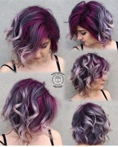 Silver gray ombre hair color ideas for short hair managed to supplant the burning red, cold blue and extravagant purple hair dye. This shade is quite, Hair Color Hair Color And Cut, Ombre Hair Color, Gray Ombre, Purple Ombre, Purple Gray, Magenta Hair, Silver Ombre, Pink Hair, Pixie Cut Color