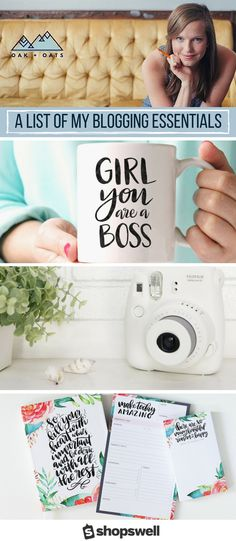 Get your #girlboss on with these blogging essentials to help you blog better and dream on! Curated by Beth of Oak and Oats.