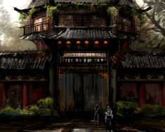 View an image titled 'Gate Details Art' in our Guild Wars Factions art gallery featuring official character designs, concept art, and promo pictures. Guild Wars, Dragon Images, Fantasy City, Concept Architecture, Environment Design, Detail Art, Fantasy Landscape, Environmental Art, Art Google