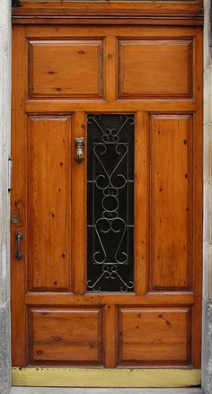 Wooden door, Bilbao, Spain