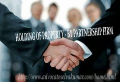HOLDING OF PROPERTY