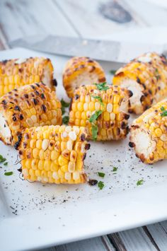Sweet farmers' market grilled corn. Farm fresh grilled corn is so sweet and delicious, and it's easy to make. A few minutes on a hot grill, a little butter, salt & pepper, and you're set.