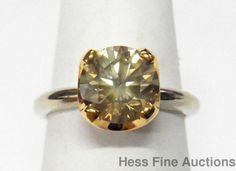 GIA 1.70ct Fancy Light Yellow Canary Diamond Solitaire 14k Gold Engagement Ring…