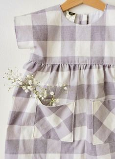 Handmade Checked Baby Toddler Dress | DearLoa on Etsy