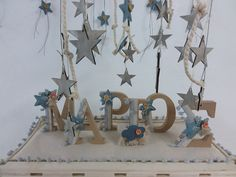 Personalized baby boy baptism gift ornament Letters signs gift ideas Nona godson present Star christening Initial gifts Room decor New born Baby Boy Baptism Gifts, Color Harmony, Personalized Baby, Handmade Art, Christening, Gift Ideas, Party Ideas, Etsy Seller, Presents