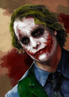 Joker by MarinaMichkina on DeviantArt Der Joker, Heath Ledger Joker, Joker Art, Joker Photos, Joker Images, Batman Joker Wallpaper, Joker Wallpapers, Joker Painting, Joker Drawings