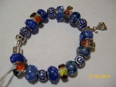 """Blue Bunny"" Bracelet ---with Easter Bunny Charm"