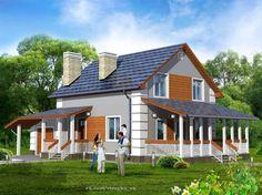 Мансардный дом с гаражом, кабинетом и террасой. Обсуждение на LiveInternet - Российский Сервис Онлайн-Дневников