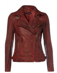 Quinn Leather Biker Jacket via boutiika.com