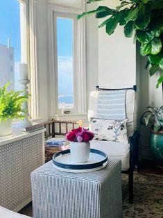 Our Podcast For The Collected Look And Giveaway! - Classic Casual Home Beautiful Interior Design, Interior Design Inspiration, Home Decor Inspiration, Small Space Living, Small Spaces, Small Stool, Cottage Living, Outdoor Furniture Sets, Outdoor Decor