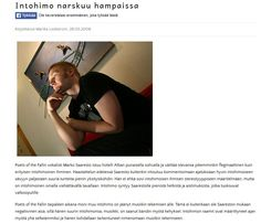 Sisällöntuotanto: Haastattelu ja kirjoittaminen. Nettilehti Juoni. // Content creation: interviews and journalism in an online magazine. #journalism #online #magazine #interview #MarikaWork