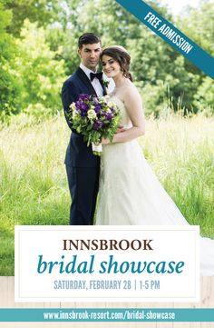 You're invited to our FREE Bridal Showcase on February 28, 2015! Get inspired by Innsbrook's exquisite lakeside lodge and meet one-on-one with the area's top wedding professionals, waiting to help you create the wedding of your dreams! Learn more at http://www.innsbrook-resort.com/bridal-showcase.