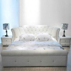 Buy Bed, High Quality Leather Bed, White And Other Bedroom Furniture Sets at Nofran Furnitures Loft Furniture, White Bedroom Furniture, Furniture Styles, Living Room Furniture, Rustic Furniture, Modern Furniture, Furniture Websites, Furniture Movers, Woodworking Furniture