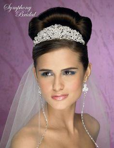 Symphony Bridal Tiara Crown 4904CR - a regal headpiece for the bride!