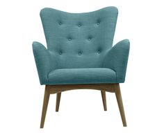 Fauteuil Mick, petrol, B 74 cm | Westwing Home & Living
