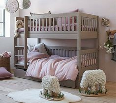 "Visit our web site for even more relevant information on ""bunk beds for kids room"". It is actually a great area to read more. Cool Bunk Beds, Kids Bunk Beds, Bunk Beds For Toddlers, Safe Bunk Beds, Bunk Beds For Girls Room, Wooden Bunk Beds, Grey Bed, Bunk Bed Designs, Bedroom Decor"