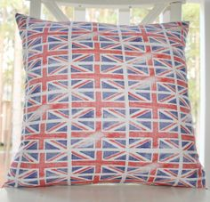 British Flag Pillow Cover  18 x 18 Union Jack by MotifPillows, $38.00