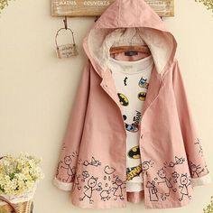 Sweet printing coats hoodies