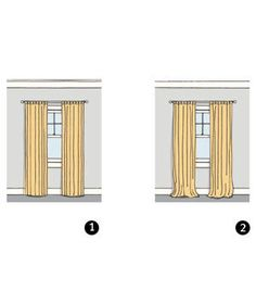 How Long Should Curtains Be? | Paralyzed by possibilities when it comes to dealing with your windows? This quick primer will give you the know-how to find the right treatments for every spot in your home.