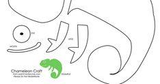 chameleon cut out template - Поиск в Google | рукотворчество ...