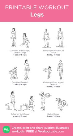29 Ideas on Weight Loss Workout Plan Gym Workout Plan For Women, Fitness Workout For Women, Fitness Tips, Barbell Workout For Women, Leg Workout Women, Planet Fitness Workout, Gym Workouts, At Home Workouts, Printable Workouts