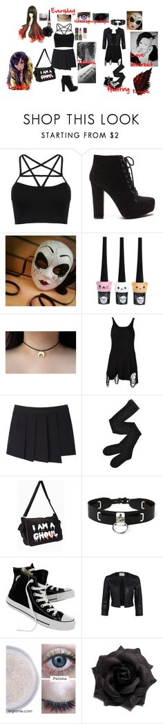 """Tokyo Ghoul Oc #5"" by bec1995 ❤ liked on Polyvore featuring COS, L'Oréal Paris, UNIF, rag & bone, Fogal, Zana Bayne and Converse"