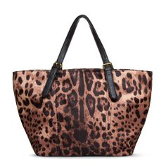Ironwood: Nylon animal-print tote with dual buckled adjustable shoulder straps
