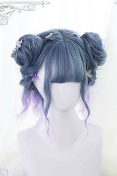 Magical Short Wig Source by Wigs how to make Kawaii Hairstyles, Pretty Hairstyles, Braided Hairstyles, Teen Hairstyles, Unique Hairstyles, Short Wigs, Short Curly Hair, Curly Hair Styles, Updo Styles