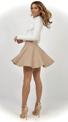 clothes for women,womens clothing,womens fashion,womans clothes outfits Tan Dresses, Short Dresses, Classy Outfits, Sexy Outfits, Girls In Mini Skirts, Sexy Legs And Heels, Skirt Outfits, Cute Outfits With Skirts, Gorgeous Women