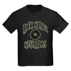 Rock N Roll Never Dies Kids Dark T-Shirt> Rock N Roll Never Dies> Route 73 Design and Printing Inc.