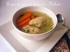 Supa de pui cu galuste - Dukan Dukan Diet, Deserts, Paleo, Ethnic Recipes, Food, Desserts, Meal, Essen, Hoods