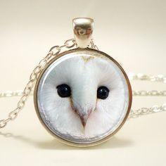 Barn Owl Necklace Mystic Fantasy Jewelry Woodland by rainnua, $14.45- got a friend who might enjoy another owl!