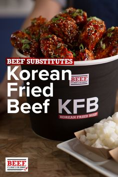 Chef Esther Choi shows you how to make lip smackin', extra-crispy Korean Fried Beef ribs. Meat Recipes, Asian Recipes, Chicken Recipes, Dinner Recipes, Cooking Recipes, Healthy Recipes, Crockpot Recipes, Recipies, Fried Beef
