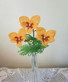 French Beaded Flowers Pansies