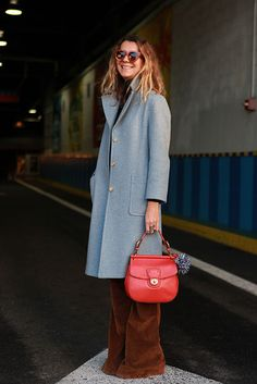 Inspiration from New York Fashion Week: Go for a pop of bright red!