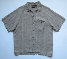 PATALOHA PATAGONIA MENS S 100% HEMP BUTTON CAMP SHIRT #PATAGONIA #ButtonFront