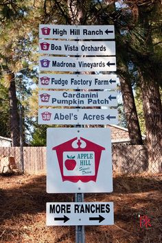 Apple Hill is in Northern Ca near Placerville..it's a lot of fun to go apple tasting in the fall!