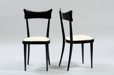Set of Six Italian Dining Chairs | From a unique collection of antique and modern chairs at https://www.1stdibs.com/furniture/seating/chairs/