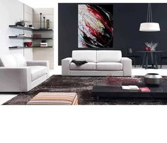 Huge contemporary home or office abstract by ArtbyPamelaHenry