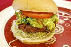 """""""Point-less"""" Meals: California Burger. 8 pp Ww Recipes, Light Recipes, Real Food Recipes, Healthy Recipes, Bean Sprout Recipes, Weight Watcher Dinners, Backyard Bbq, Savoury Dishes, Favorite Recipes"""
