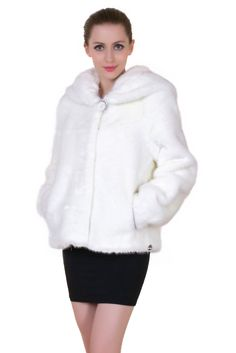 - 100% Modacrylic, Lush faux albino ferret fur - Dry Clean Only - Fully handmade from choiced-quality fabric, Genuine Simulation - Utmost simplicity for perfect fit and new winter trend - Full front h