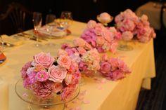 新郎新婦様からのメール 瞬間、入場前2 シェ松尾青山サロン様へ : 一会 ウエディングの花