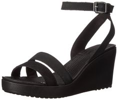 crocs Women's Leigh Shimmer Wedge Sandal ** Awesome product. Click the image : Wedge sandals
